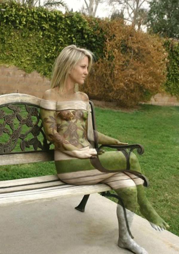 natural body paintings women