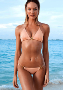 Model Candice Swanepoel Shows Off Her