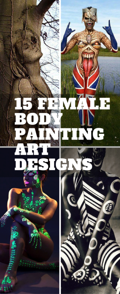 Female Body Painting Designs
