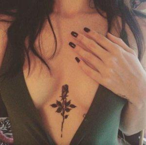 chest rose rose tattoo ideas design