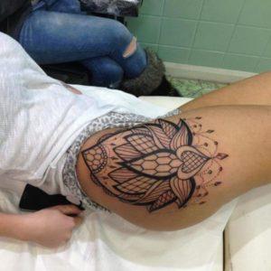 mandala Thigh Tattoos Designs and Ideas