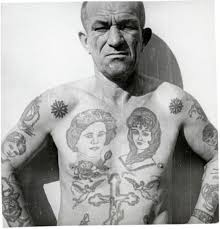Gangster Style Prison Tattoos Meanings