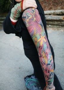 arm colored Tattoos for Girls and women