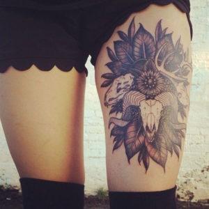 Best Leg Tattoo Designs for Women design ideas