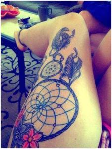 leg Tattoo Designs ideas for Women girls