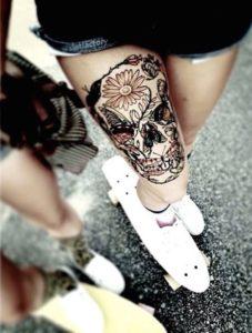 Skull Tattoo Designs ideas Gallery For  Women