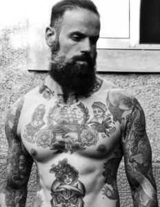 this guys chest are wonderfully detailed