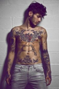 Realistic Temporary Tattoos For men on hands chest
