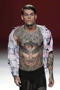 colourful Chest tattoos for men ideas