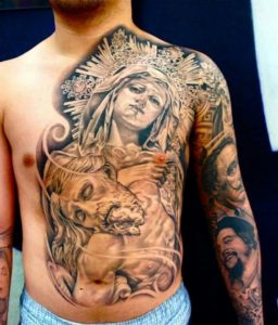 Chest  Large Tattoos Fake Temporary Body Art for men