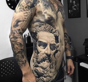 Temporary Tattoos For Men Guys Boys side and chest ideas