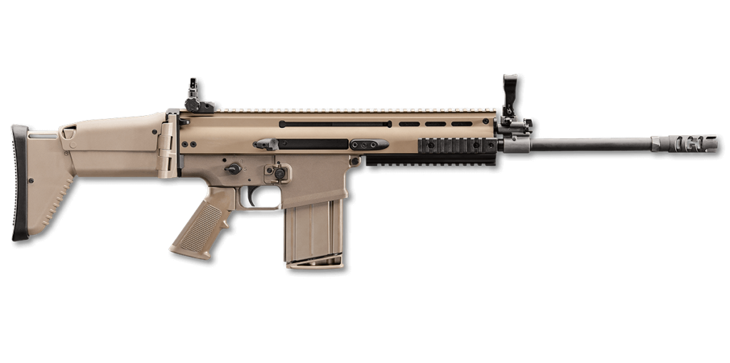FN SCAR 17S  self-loading rifle with a rotating bolt