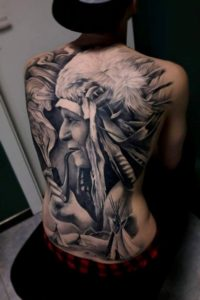 back portrait tattoo designs ideas for men