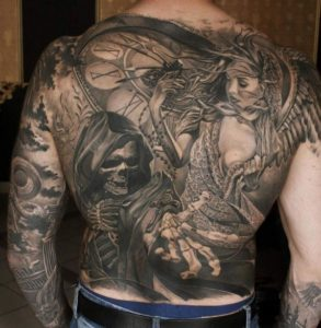 Wonderful Back Tattoo Ideas for Men unique designs