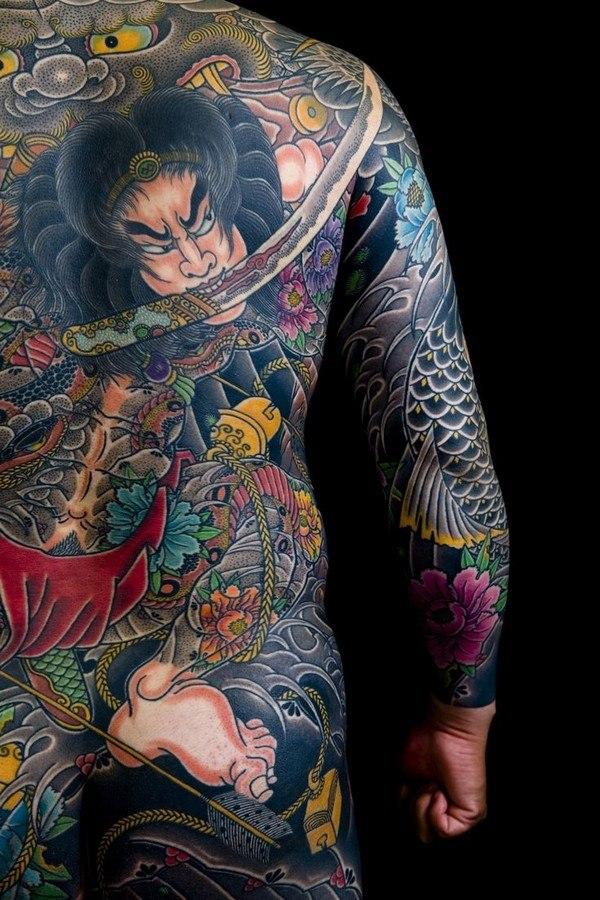 Japanese Back Tattoo Designs ideas For Men guys