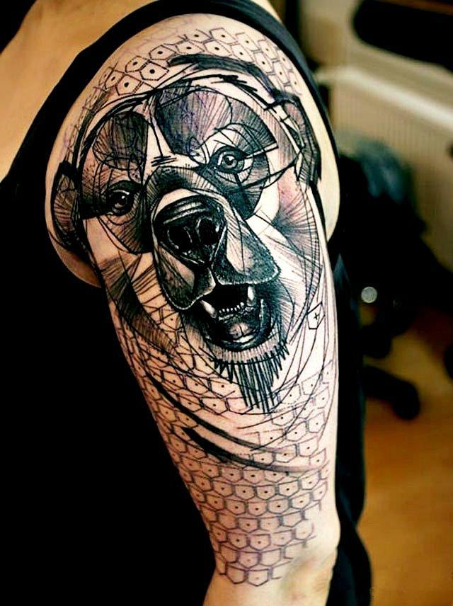 Cool Dog Tattoo Ideas For Guys design for men