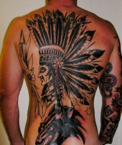 tattoo on back  men