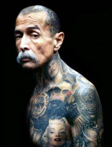 portrait Tattoos for Men design ideas on body