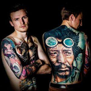 body art on back ideas for men