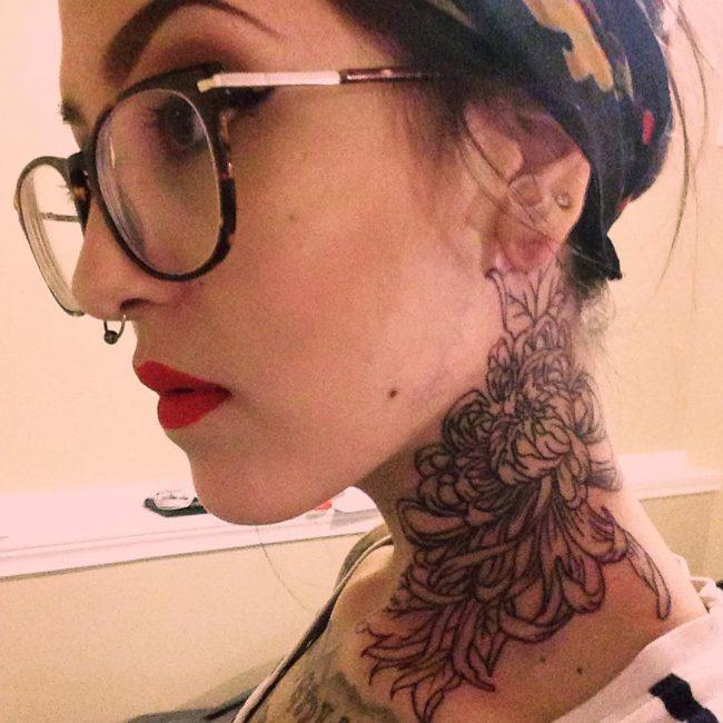 Best Neck Tattoos - Female images