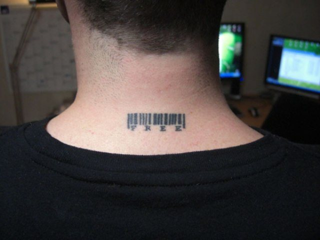 number kod tattoos on the neck for guys