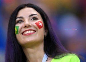 brazil girls Beautiful smiling happy Brazil football fan