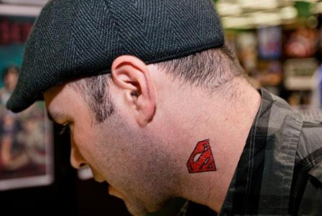 form side neck tattoo designs male