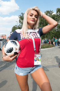 Russia sexy beautiful female football fans