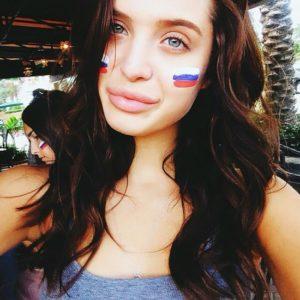 Beautiful Female Russian Football Fan