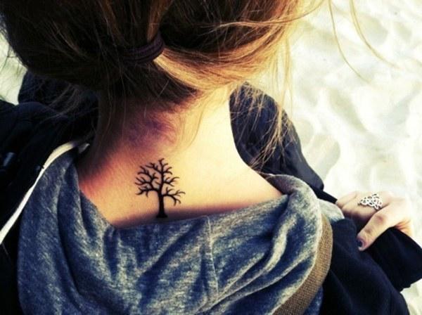 Neck back Tattoo ideas