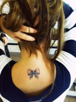 Attractive Back of Neck Tattoo Designs