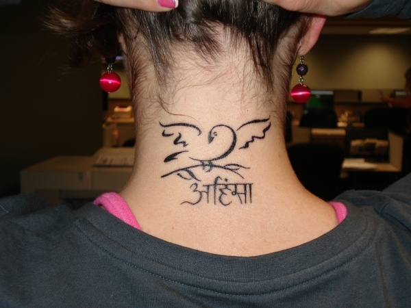 latest back neck tattoo ideas for women