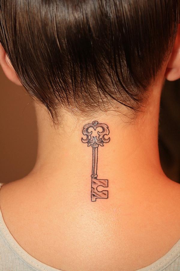 neck back  tattoo