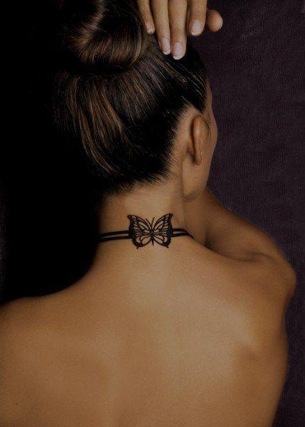 Beautiful Back Neck Tattoos For Women design ideas