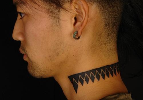 neck tribal tattoo designs for men