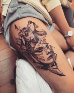 leg tattoos for females