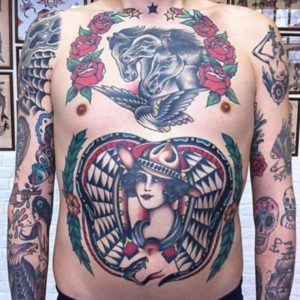 Best Stomach Tattoos for Men images