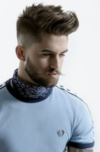 wash and dry your beard and comb it downwards