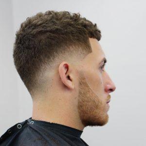 best  short hair cut with beard design