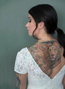 Best Lion tattoo girls images