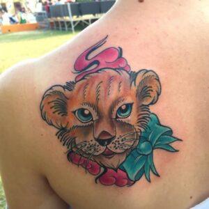 Fierce Lion Tattoos for girls