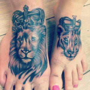 Daring Lion Tattoo Designs for  Women