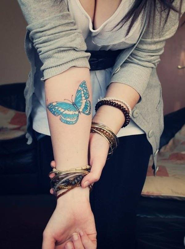 women's butterfly sleeve tattoos