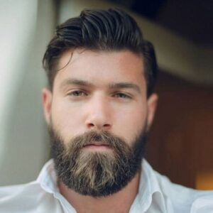 men's haircut with mustache
