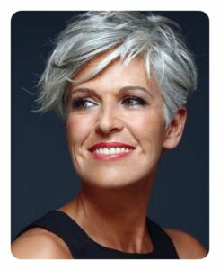 short choppy hairstyles for over 40