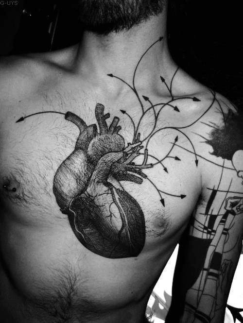 Traditional Heart Tattoo Designs For Men and guys
