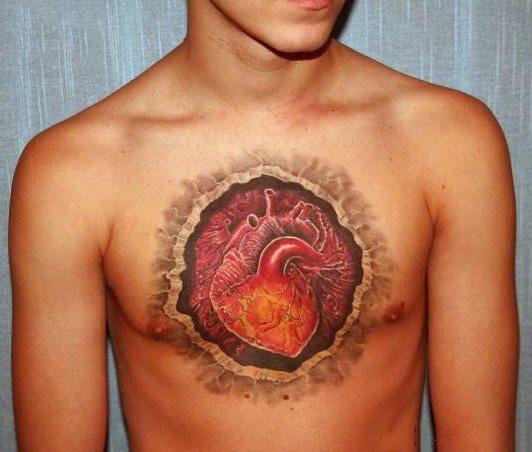 name with heart tattoo