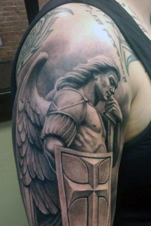 cross tattoos for men on arm