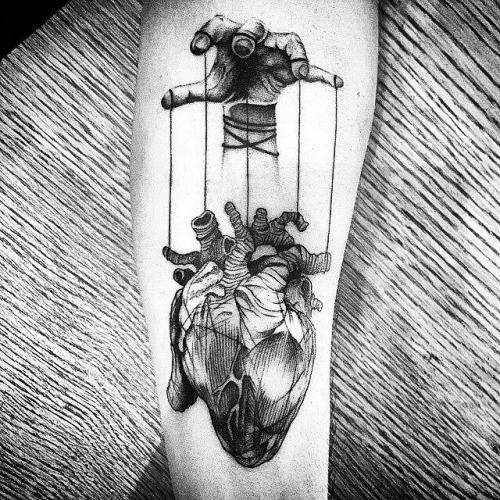 Key To My Heart Tattoo Men
