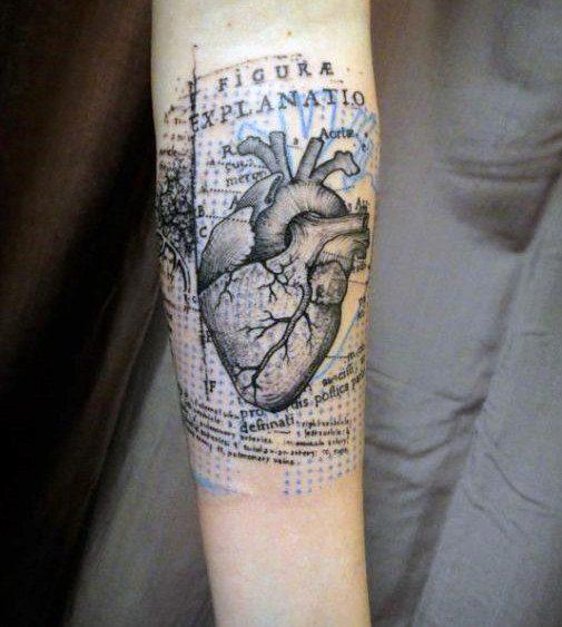 Unique Heart Tattoo Design for Men